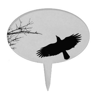 The Crow Cake Topper