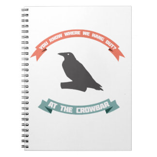 The Crow Joke Spiral Note Book