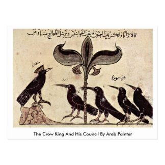 The Crow King And His Council By Arab Painter Postcard