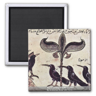 The Crow King And His Council By Arabischer Maler 2 Inch Square Magnet