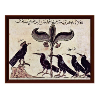 The Crow King And His Council By Arabischer Maler Post Card
