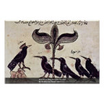 The Crow King And His Council By Arabischer Maler Print