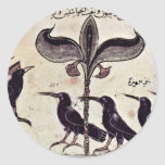 The Crow King And His Council By Arabischer Maler Round Sticker