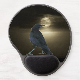 The Crow Looks Back By Moonlight Gel Mouse Pad