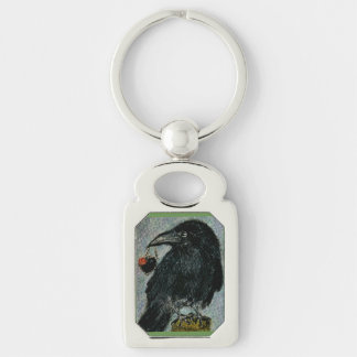 'The Crow that stole the rose heart necklace!' Keychain