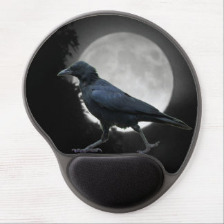 The Crow Walks By Moonrise Gel Mouse Pad