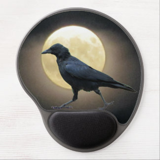 The Crow Walks By The Full Moon Gel Mouse Pad