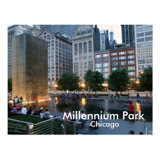 The Crown Fountain, Millennium Park, Chicago Post Cards