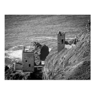 The Crown Mines engine houses, Botallack, Cornwall Postcard