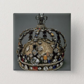 The Crown of Louis XV, 1722 (gilded silver, replac Pinback Button