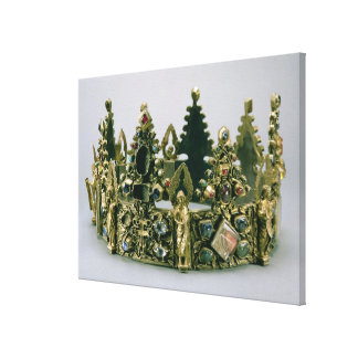 The crown of St. Louis, 13th century (silver-gilt Canvas Print