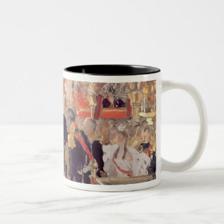 The Crowning of Emperor Nicholas II Two-Tone Coffee Mug