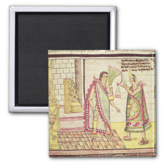 The Crowning of Montezuma II 2 Inch Square Magnet