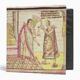 The Crowning of Montezuma II 3 Ring Binder