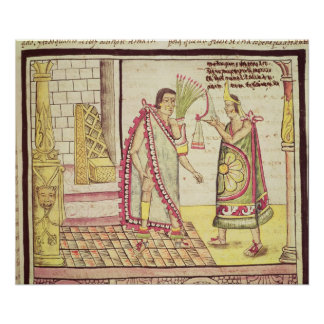 The Crowning of Montezuma II Print