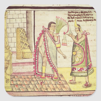 The Crowning of Montezuma II Square Sticker