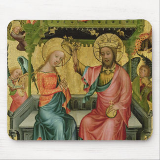 The Crowning of the Virgin, from the right wing Mouse Pad