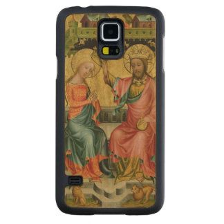 The Crowning of the Virgin, from the right wing Carved® Maple Galaxy S5 Slim Case