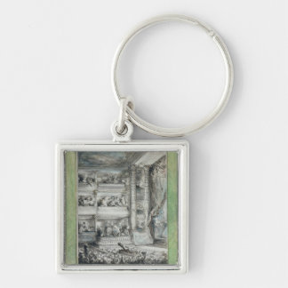 The Crowning of Voltaire at the Theatre Francais Keychain