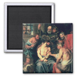 The Crowning with Thorns, 1618-20 2 Inch Square Magnet