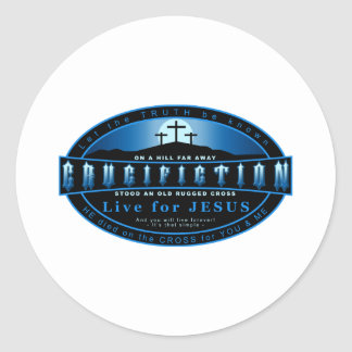The Crucifiction Classic Round Sticker