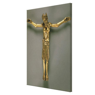 The Crucified Christ, French, second half of 12th Canvas Print