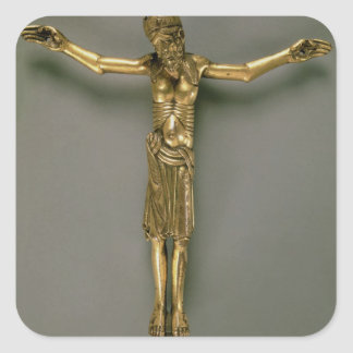 The Crucified Christ, French, second half of 12th Square Sticker
