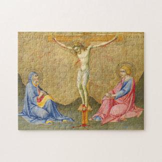 The Crucifixion c. 1445/1450 by Sano di Pietro Jigsaw Puzzle
