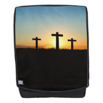 The Crucifixion Crosses at Sunset Backpack
