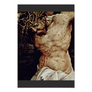 The Crucifixion Detail By Grünewald Mathis Gothart Poster