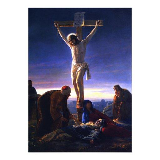 The Crucifixion.Fine Art Customizable Card