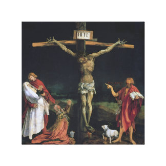 THE CRUCIFIXION FROM THE ISENHEIM ALTAR PIECE. CANVAS PRINT