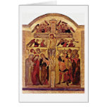 The Crucifixion Of Christ By Master Of Westphalia Greeting Card