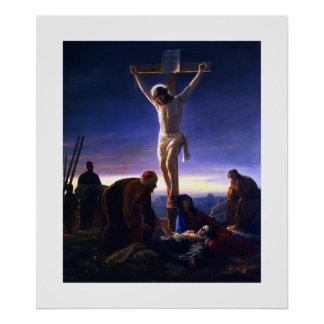 The Crucifixion of Jesus by Carl Bloch. Poster