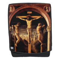The Crucifixion of Jesus by Vincenzo Foppa - 1456 Backpack