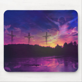 The Crucifixion of Jesus Christ Mouse Pad