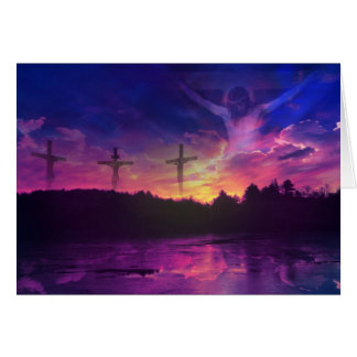 The Crucifixion of Jesus Christ on the Cross Greeting Card