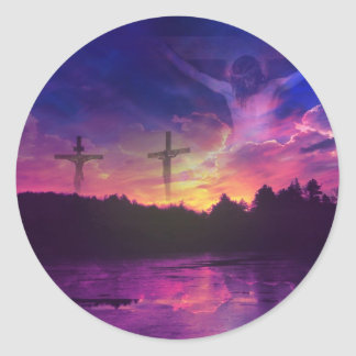 The Crucifixion of Jesus Christ on the Cross Classic Round Sticker