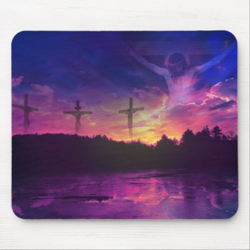 The Crucifixion of Jesus Christ on the Cross mousepad