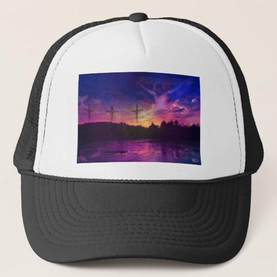 The Crucifixion of Jesus Christ Trucker Hat
