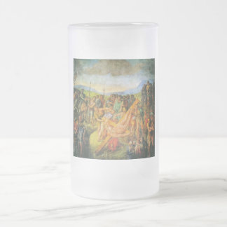 The Crucifixion of St. Peter Frosted Glass Beer Mug