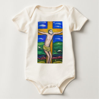 The Crucifixion Pastoral (Christianity theme) Baby Bodysuit