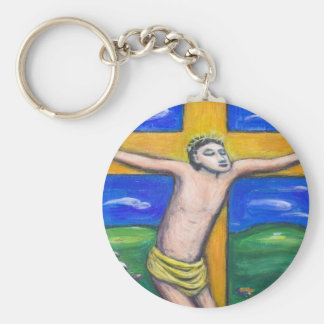 The Crucifixion Pastoral (Christianity theme) Keychain
