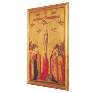 The Crucifixion (tempera on panel) Canvas Print