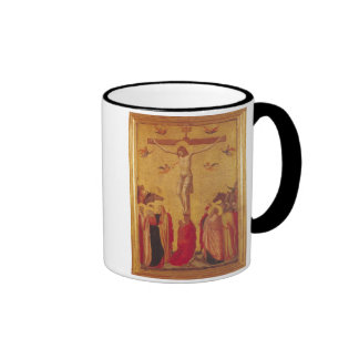 The Crucifixion (tempera on panel) Ringer Coffee Mug