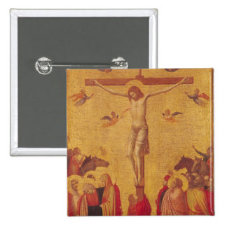 The Crucifixion (tempera on panel) Pinback Button