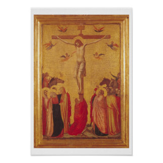 The Crucifixion (tempera on panel) Poster
