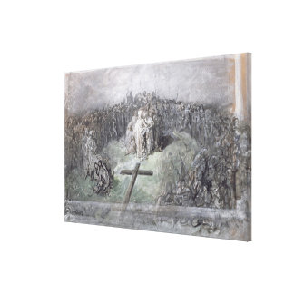The Crucifixion (w/c and gouache on paper) Canvas Print