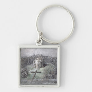 The Crucifixion (w/c and gouache on paper) Keychain