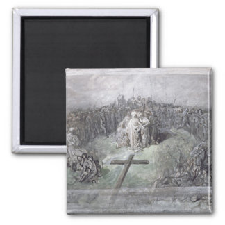 The Crucifixion (w/c and gouache on paper) Refrigerator Magnet